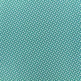 Poppy cotton fabric Graphics - green x 10cm
