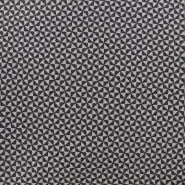 Poppy cotton fabric Graphics - grey x 10cm