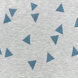 Poppy jersey fabric Triangle Glitter - peacock x 10cm