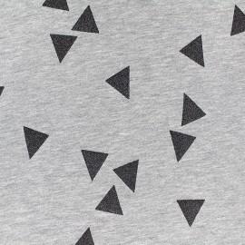 Poppy jersey fabric Triangle Glitter - black x 10cm