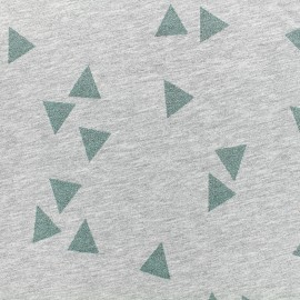 Poppy jersey fabric Triangle Glitter - green x 10cm