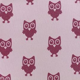 Poppy jersey fabric Hibou Glitter - pink x 18cm
