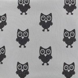 Poppy jersey fabric Hibou Glitter - grey x 18cm