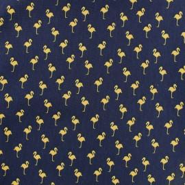Satin Fabric Flamingo by Penelope® - navy x 10cm
