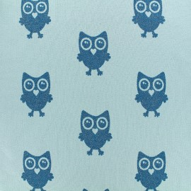 Poppy jersey fabric Hibou Glitter - turquoise x 18cm