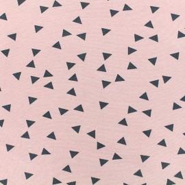 Poppy jersey fabric Triptik - pink x 10cm