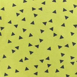 Poppy jersey fabric Triptik - english mustard x 10cm