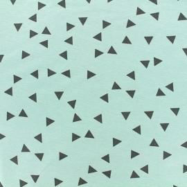 Poppy jersey fabric Triptik - seagreen x 10cm