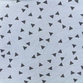 Poppy jersey fabric Triptik - blue x 10cm