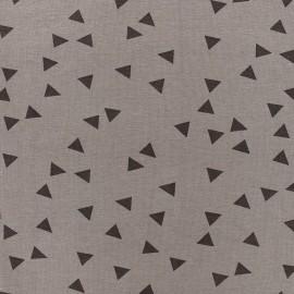 Poppy jersey fabric Triptik - taupe x 10cm