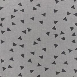 Poppy jersey fabric Triptik - grey x 10cm