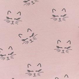 Poppy jersey fabric Sweet Cat - pink x 10cm