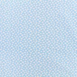 Poppy jersey fabric  little clouds - light blue x 10cm