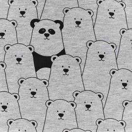 Poppy jersey fabric Hide & seek - grey x 19cm