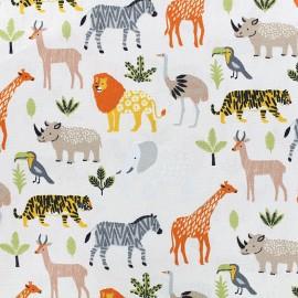 Poppy cotton fabric Safari - blanc x 15cm