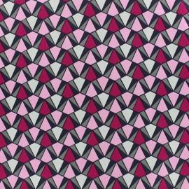Tissu Gabardine lycra satinée légère Prisma - rose x 10cm