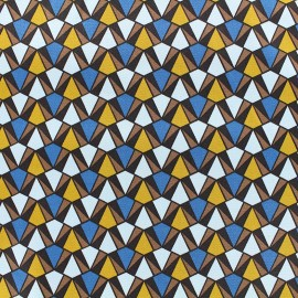 Silky light Lycra Gabardine Fabric Prisma - blue x 10cm
