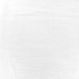 Tissu double gaze de coton Soft Touch - white x 10cm