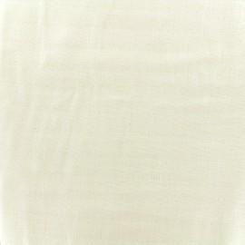 Tissu double gaze de coton Soft Touch - ivory x 10cm