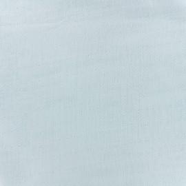 Tissu double gaze de coton Soft Touch - blue x 10cm