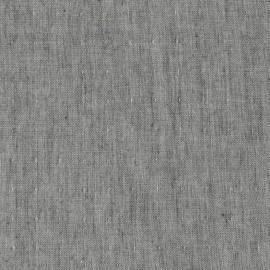 Tissu double gaze de coton Chambray - charcoal x 10 cm