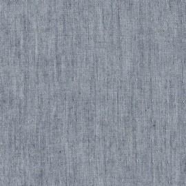 Tissu double gaze de coton Chambray - indigo x 10 cm