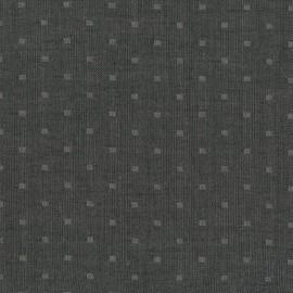 Tissu double gaze de coton Chambray Dobby - black x 10 cm