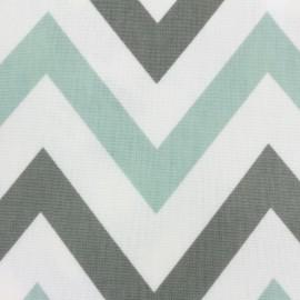 Varnished and coated cotton fabric Jazz - aqua x 10cm