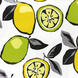 Varnished and coated cotton fabric Citrus - mojito x 21cm