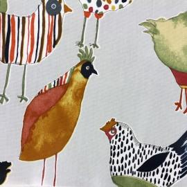 Tissu coton enduit vernis Harriet - colonial x 65cm