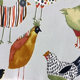Varnished and coated cotton fabric Harriet - colonial x 65cm