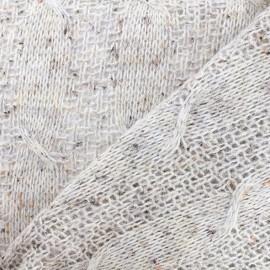 Tissu Lainage pailleté - beige x 10cm