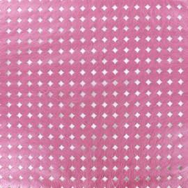 Simili cuir souple ajouré Moucharabieh - rose x 10cm