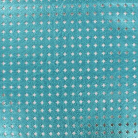 Openworked imitation leather Moucharabieh - turquoise x 10cm