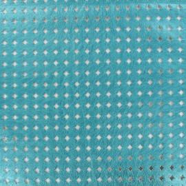 Simili cuir souple ajouré Moucharabieh - turquoise x 10cm