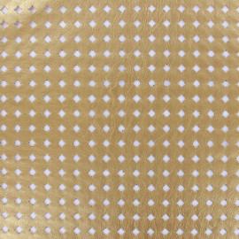 Simili cuir souple ajouré Moucharabieh - gold x 10cm