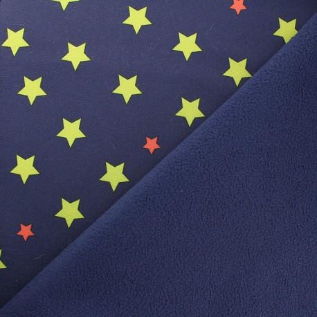 neoprene fabric constellation fleece lined navy x 10cm