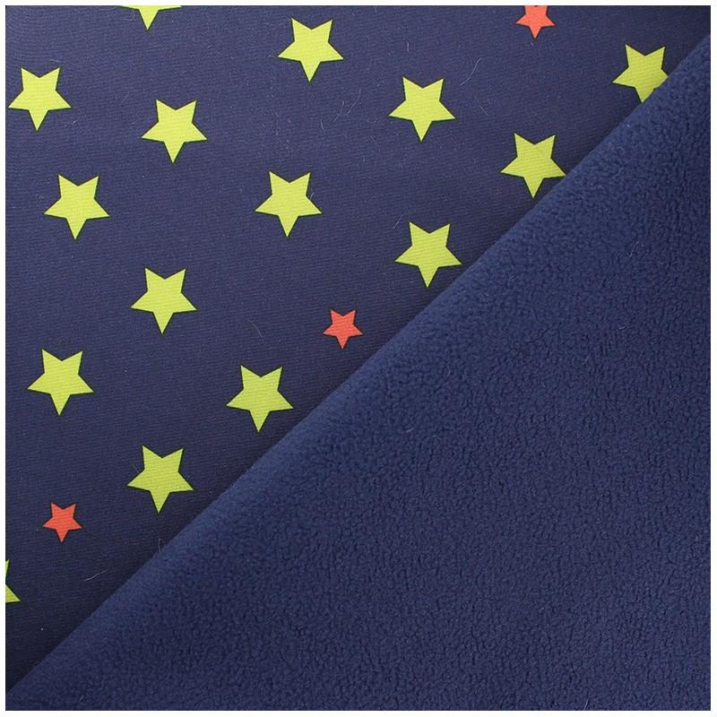 neoprene fabric constellation fleece lined navy x 10cm On constellation fleece fabric