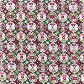 Milleraies velvet fabric Rosalie - pink x10cm