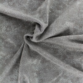 Tissu Maille irisée - taupe x 10cm