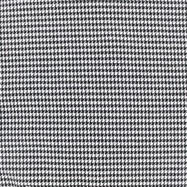 Tissu Lainage mini Houndstooth - blanc x 10cm