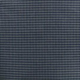 Tissu Lainage mini Houndstooth - gris x 10cm