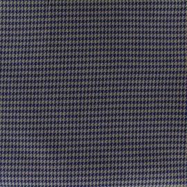 Tissu Lainage mini Houndstooth - brun x 10cm