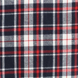 Tissu coton tartan Scotsman - marine/rouge x 10cm