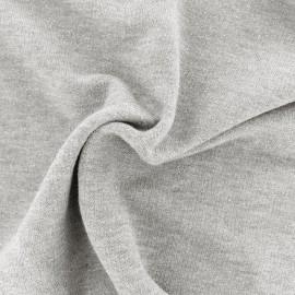 Tissu jogging lurex - gris clair x 10cm