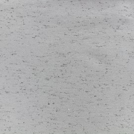 Mocked sweat fabric Lovely - grey x 10cm