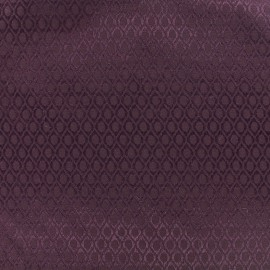 Tissu jacquard Orient - prune x 10cm
