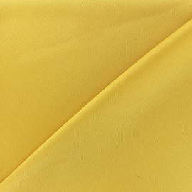 Tissu crêpe envers satin - jaune x 10cm