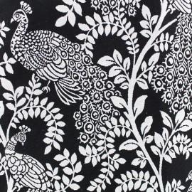 Tissu toile jacquard Peacock - noir et blanc x 10cm