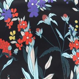 Tissu satin Capucine - noir x 10cm